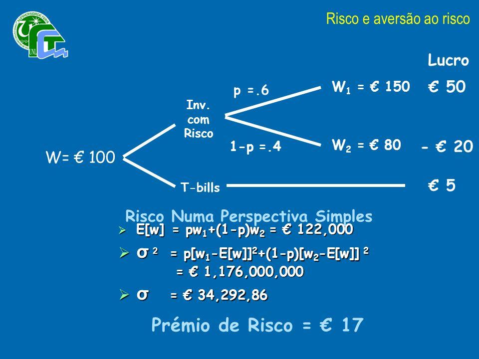 σ 2 = p[w1-E[w]]2+(1-p)[w2-E[w]] 2 σ = € 34,292,86